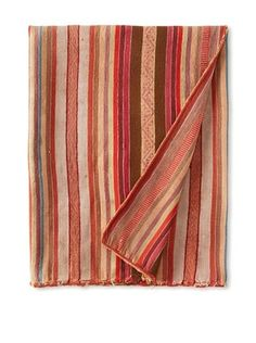 37% OFF Nomadic Thread Society Peruvian Manta/Throw, Red/Brown/Turquoise