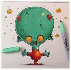 Dave, the Space Alien, is really rather perplexed.