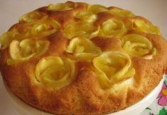 Koláč s jablkovými ružičkami - Receptik.sk
