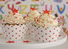 . . . quick and easy with pretty cupcake wrappers from Maise Fantaisie