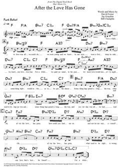 After the Love Has Gone Sheet Music Preview Page 1