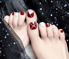 Gel Toe Nails, Acrylic Toe Nails, Simple Toe Nails, Summer Toe Nails, Cute Toe Nails, Feet Nails, Pedicure Nails, Toe Nail Art, Toenails