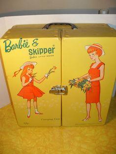 Vtg Barbie Skipper Lot 3 Dolls Case Trunk Tons Of Clothes & more 1964 Mattel | eBay