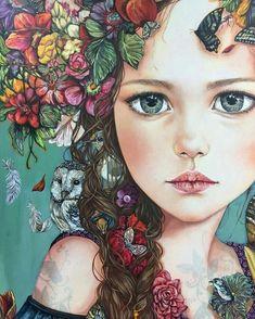 from Monica Fernandez ( Art Themes, Whimsical Art, Portrait Art, Painting Portraits, Art Paintings, Face Art, Art Faces, Medium Art, Art Pictures