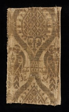 linen and silk, end of 13th cent., Italy, technique: samite