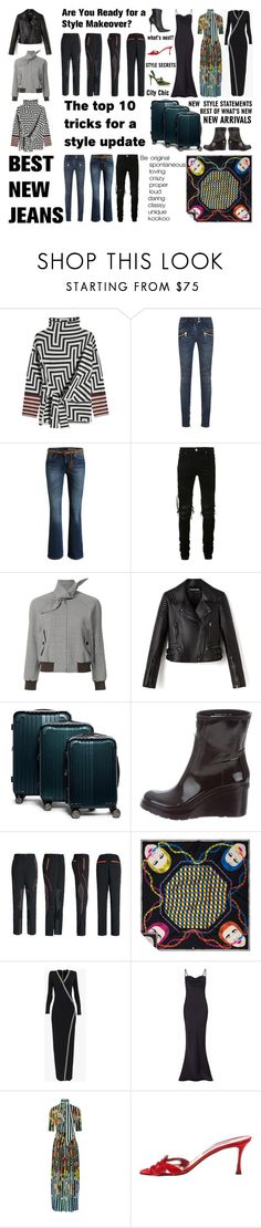 """Little bit of this, little bit of that"" by didesi ❤ liked on Polyvore featuring Grotesk, Etro, Balmain, AMIRI, Balenciaga, Hunter, Mary Katrantzou, Manolo Blahnik and Vetements"