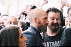 tom Hardy and fans - April 16th 2015 - Child 44 premiere