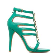 Elle green dressy sandals - ShoeDazzle