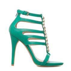 Elle green dressy sandals - ShoeDazzle