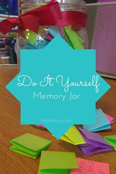 """While Facebook and Instagram are great for documenting memories, sometimes you just need a fun way to preserve those funny quotes, embarrassing moments, or general shenanigans that always seem to happen when you're with your friends! This year, my roommates and I decided to create a """"memory jar"""" using an old mason jar and some colorful sticky notes we had lying around the room."""