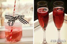 Mira como preparar kir royals como cocktail para la despedida de soltera #bodas #ElBlogdeMaríaJosé #Cocktails #DespedidaSoltera #Bebida
