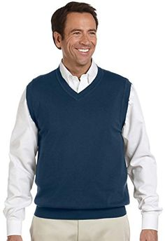 Men's Clothing - Devon  Jones Mens VNeck Sweater Vest -- Continue to the product at the image link. (This is an Amazon affiliate link)