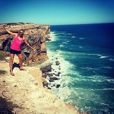 "Often described as ""The End of the World"", the Bunda Cliffs run more than 100km along the Great Australian Bight, and are the longest uninterrupted line of sea cliffs on Earth. They fall dramatically into the Southern Ocean from the Nullabor Plain. www.parkmyvan.com.au #ParkMyVan #Australia #Travel #RoadTrip #Backpacking #VanHire #CaravanHire‬‬"