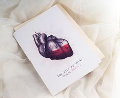 Valentine's Day card | Community Post: 14 Darkly Romantic Heart Gifts For Your Valentine