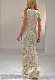 араны, вязаные платья, вязаные платья спицами, Natallia Kulikouskaya