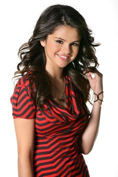 Selena Gomez, she can be seen as Alex on Wizards of Waverly Place.