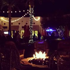Marshmallow roasting pit and palm trees...we're not in Colorado anymore. via @Jennifer Larsen