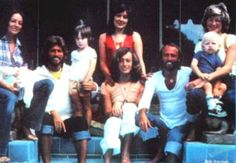 Bee Gees with family 1978