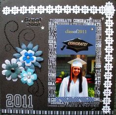 scrapbooking ideas for graduation | graduation scrapbook page | scrapbooking ideas