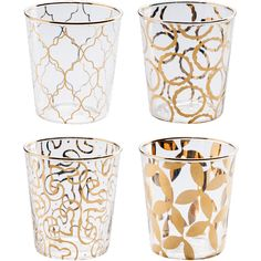 Rosanna // Luxe Moderne Double Old Fashioned Glasses, Set of 4