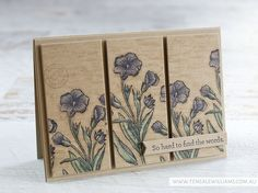 By Teneale Williams | All Stampin'Up! Materials used Butterfly Basics, An Open Heart and Timeless Texture | Watercoloured on Crumbcake Cardstock with a blender pen