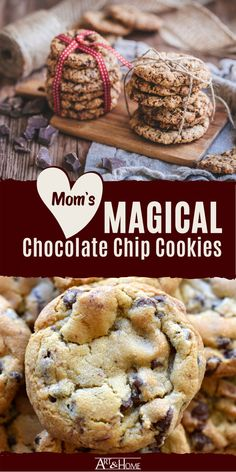 This was my Mom's go-to recipe for chocolate chip cookies, and we always devoured them as soon as they plate hit the table. Healthy Chocolate Chip Cookies, White Chocolate Chips, Cereal Recipes, Cookie Recipes, Cookie Bars, Cookie Dough, White Chocolate Macadamia, Secret Recipe, Delicious Chocolate
