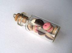 Cute Donuts in a Bottle Charm by MonkeySushi on Etsy, $8.00