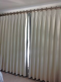 Inverted Pleat Or Also Known As Box Pleat Curtains