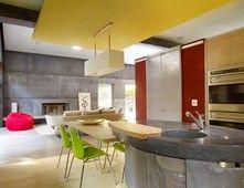 Island, Counter, Oblong, Sink, Gray Concrete Countertops Cheng Design Berkeley…