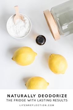 How to clean the fridge with baking soda, lemon, and essential oils