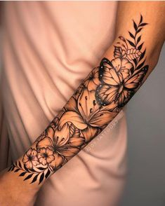 Half Sleeve Tattoos Forearm, Girl Arm Tattoos, Tattoos For Women Half Sleeve, Shoulder Tattoos For Women, Mom Tattoos, Body Art Tattoos, Tatoos, Women Forearm Tattoo, Inner Elbow Tattoos
