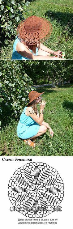 Летняя шляпа крючком - Вязание Крючком. Блог Настика
