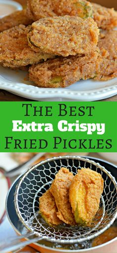 These extra crispy fried pickles are the best! They are perfect for game day or for any other event with friends and family!