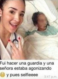 Desrespeito: Estudante de Medicina tira selfie com paciente à beira da morte e cria polêmica
