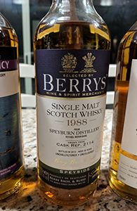 Speyburn 26, 1988 (Berry Bros. & Rudd) | My Annoying Opinions