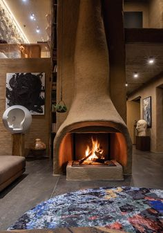 An Architect's House That Melds Traditional Japanese And Ukranian Ethos In A Modern Shell Interior Design Tips, Interior And Exterior, Tulum, Hotel Boutique, Architect House, Fireplace Design, Amazing Architecture, Contemporary Architecture, Contemporary Style
