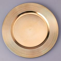 Plastic Charger Plate in Metallic Gold - 13 & Bulk Gold Plastic Charger Plates with Beaded Rims 13 in. at ...