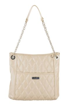 Grace Adele Handbag ~ Alex Stone $80 ~ Patent quilted bag with convertible chain straps. www.EyeCandy.GraceAdele.us