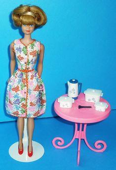 Vintage Barbie RARE MOD BLUE T-Strap T STRAP Shoes JAPAN VHTF EXCELLENT
