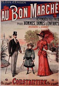 Le Bon Marché à Paris en 1900