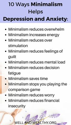 10 Simple Ways Minimalism can Stop Depression and Anxiety. minimalist lifestyle … 10 Simple Ways Minimalism can Stop Depression and Anxiety. Vie Simple, Simple Way, Minimalism Living, Anxiety Help, Anxiety Cure, Anxiety Remedies, Overcoming Anxiety, Social Anxiety, Less Is More