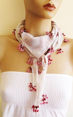 Traditional Turkish Oya Scarf