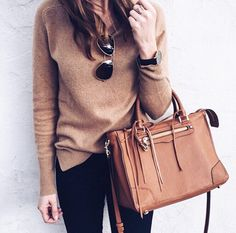 One of my favorite purchases I made on Black Friday last year was this cashmere sweater and it's back in stock! It comes in about 15 colors and is a major steal at $55. I also linked this exact bag in the almond color I have   a nearly identical color option (that I kinda like more actually) which is on SALE! http://liketk.it/2pGEx @liketoknow.it #liketkit #ltksalealert #blackfriday