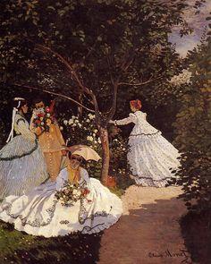 Women in the Garden 1867 | Claude Monet | Oil Painting #impressionism