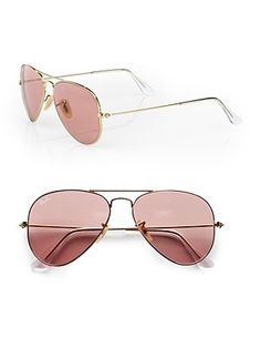 Rose Colored Ray-Bans