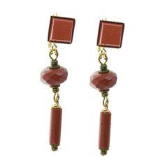 Jan Michaels Jasper Double Drop Earrings