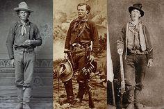 left from right: Dan Dedrick, Pat Garrett and Billy the Kid.