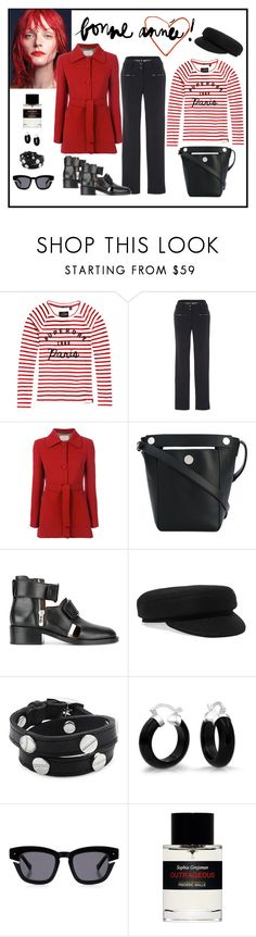 """""""L'Autre Chose Red Belted Fitted Coat Look"""" by romaboots-1 ❤ liked on Polyvore featuring Garance Doré, Perfect Moment, L'Autre Chose, 3.1 Phillip Lim, Isabel Marant, CC SKYE, Bling Jewelry, Grey Ant and Frédéric Malle"""