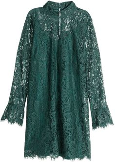H&M - Lace Dress - Dark green - Ladies
