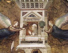 'Allegorie der Keuschheit (Detail)' von Giotto Di Bondone (1266-1337, Italy)